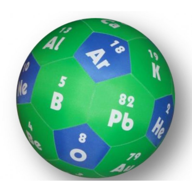 Bold med de 30 mest almindelige grundstoffer
